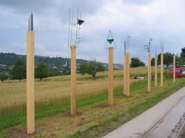 Jürgen Klugmann, Stelenfeld, Schwärzlocher Hof, Kunstpfad Tübingen -Rottenburg